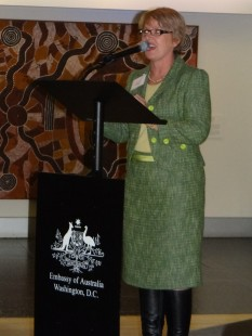 Hon Jo Goodhew MP of New Zealand at the Embassy of Australia in Washington, DC.Photo Credit: Genevieve Neilson