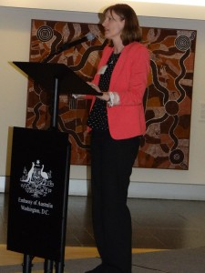 Hon Julie Collins MP from Australia at the Embassy of Australia in Washington, DC.Photo Credit: Genevieve Neilson